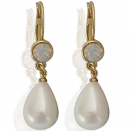 Oorbellen pearl stone