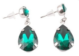 Oorstekers hanger emerald