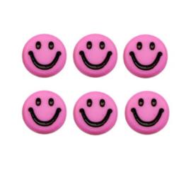 Letterkralen van acryl smiley roze