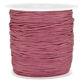 Macramé draad 1.0mm light aubergine red
