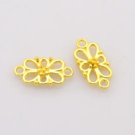 Tussenzetsel flower goud