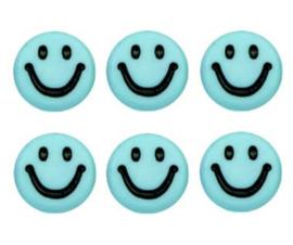 Letterkralen van acryl smiley blauw