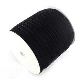 Velvet koord zwart 9,5mm