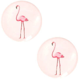 Cabochon flamingo pastel rosewater pink 12mm