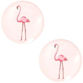 Cabochon flamingo pastel rosewater pink 12mm