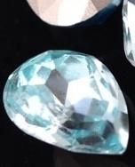 Glas druppel aquamarine