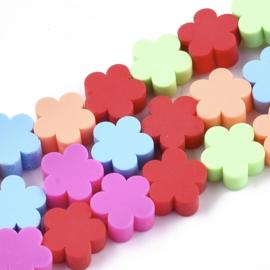 Polymeer kralen bloem color