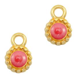 Bedel Pearl coral pink-gold (nikkelvrij) DQ