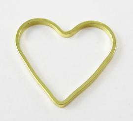 Tussenzetsel hart open goud (nikkelvrij)