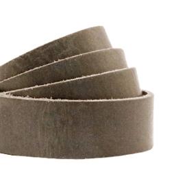Plat 20 mm DQ leer Beluga grey-taupe