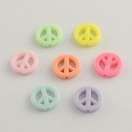 Acryl kraal peace pastel mix
