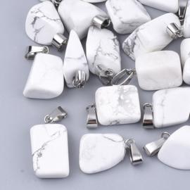Bedel Howlite nugget zilver