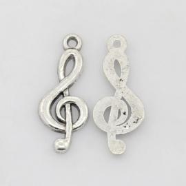 Bedel muzieksleutel zilver