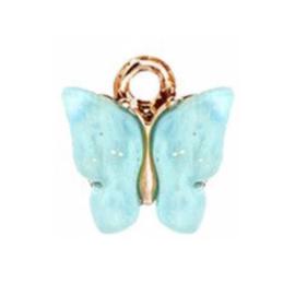 Bedel vlinder aqua goud