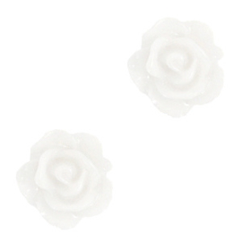Roosjes kralen 10mm Bright white