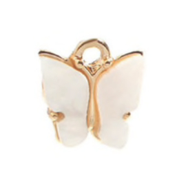 Bedel vlinder white goud