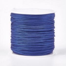 Macramé koord royal blue 0.8mm