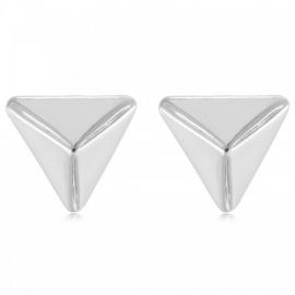 Oorbellen triangle zilver