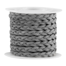 Braided imi suède kabel grey