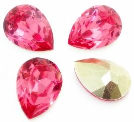 Druppel basis facet 10x14mm hot pink