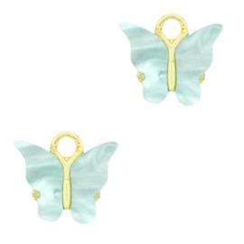 Bedel vlinder Gold-light blue