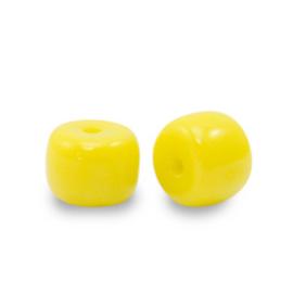 Rondellen glaskralen 6mm Yellow