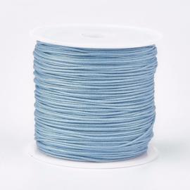 Macramé koord steel blue 0.8mm