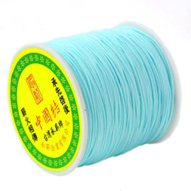 Macrame satin aqua 0.8mm