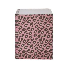 Cadeauzakje panter roze 10x13cm