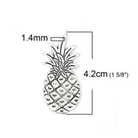 Bedel ananas zilver groot