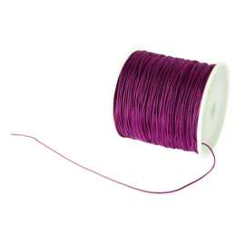 Macramé satijndraad 0.8mm aubergine purple