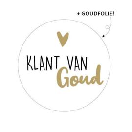 Sticker Klant van Goud!