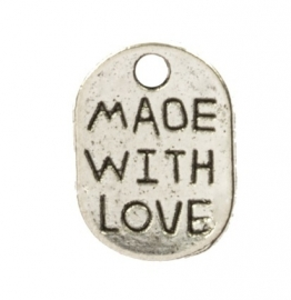 Bedel zilver 'made with love'
