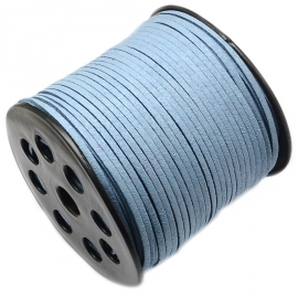 Suede cord steel blue