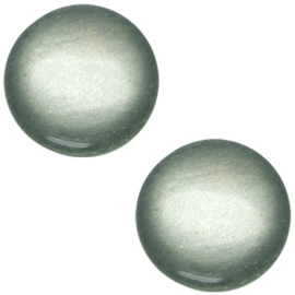 Polaris cabochon soft tone 20mm shiny Green grey