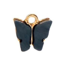 Bedel vlinder black goud