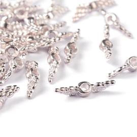 Mini vleugeltjes zilver
