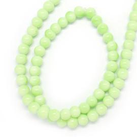 Glasperlen baked green 4mm
