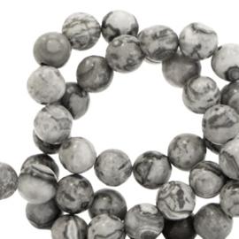 Natuursteen kralen Moon grey 6mm