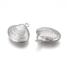 Bedel RVS schelp zilver