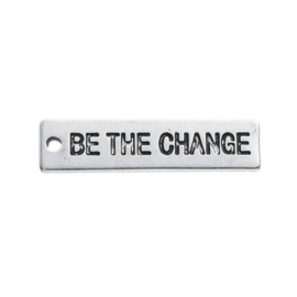 Bedel be the change zilver