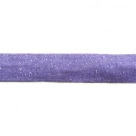 Elastiek paars glitter (dik) 15mm