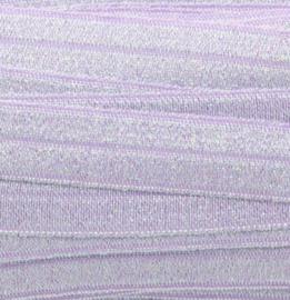 Elastiek light lila glitter 15mm