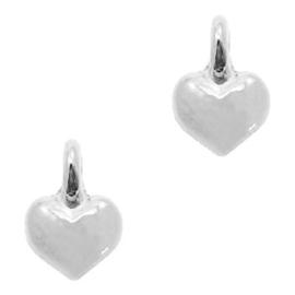 Bedel DQ metaal hart Zilver (nikkelvrij)