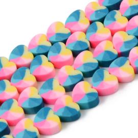 Katsuki kralen heart pastel Multicolor