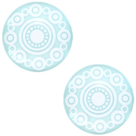 Cabochon light turquoise blue 12mm