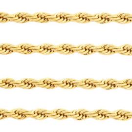 Roestvrij stalen (RVS) Stainless steel onderdelen twist jasseron Goud