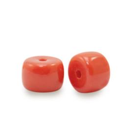 Rondellen glaskralen 6mm Crimson red