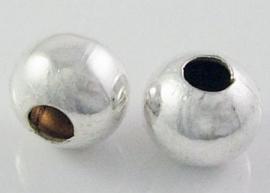 Metalen kraal zilver 8mm