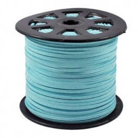 Imitation suede kabel aqua